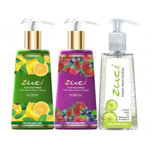 Buy Zuci Cool Citrus & Berry Blast Handwash With Citrus Hand Sanitizer - Nykaa