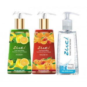 Buy Zuci Cool Citrus & Tropical Handwash With Natural Hand Sanitizer - Nykaa
