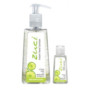 Buy Zuci Pack Of 250 ml & 30 ml Hand Sanitizer - Citrus Lime - Nykaa
