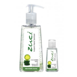 Buy Zuci Pack Of 250 ml & 30 ml Hand Sanitizer - Cucumber Mint - Nykaa