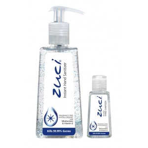 Buy Zuci Pack Of 250 ml & 30 ml Hand Sanitizer - Fragrance Free - Nykaa