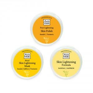 Buy Herbal Auravedic Super Skin Lightening Range Combo (set of 3) - Nykaa