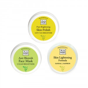 Buy Auravedic Clear Brightness Combo (set of 3) - Nykaa