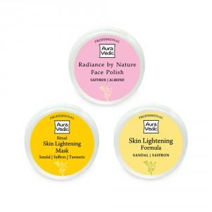 Buy Auravedic Lightening And Glow Combo (set of 3) - Nykaa