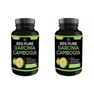 Buy Nutravigour Pure Garcinia Cambogia 95% Hca 800mg 60 Veg Capsules - Pack Of 2 - Nykaa