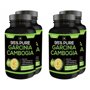 Buy Herbal Nutravigour Pure Garcinia Cambogia 95% Hca 800mg 60 Veg Capsules - Pack Of 4 - Nykaa