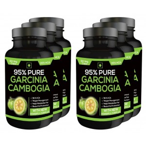 Buy Nutravigour Pure Garcinia Cambogia 95% Hca 800mg 60 Veg Capsules - Pack Of 6 - Nykaa