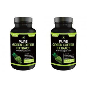Buy Herbal Nutravigour Pure Green Coffee Extract 50% Gca 60 Capsules - Pack Of 2 - Nykaa