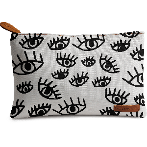 Buy DailyObjects Protective Eyes Black And White Carry-All Pouch Medium - Nykaa