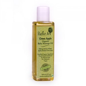 Buy Rustic Art Organic Baby Oil - Green Apple  - Nykaa