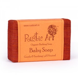 Buy Rustic Art Organic Baby Soap - Nykaa