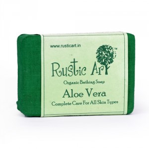 Buy Rustic Art Organic Aloe Vera Soap - Nykaa