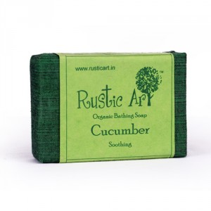 Buy Herbal Rustic Art Organic Cucumber Soap - Nykaa