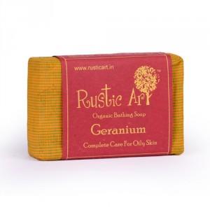 Buy Rustic Art Organic Geranium Soap - Nykaa