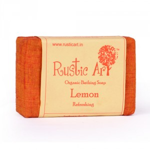 Buy Rustic Art Organic Lemon Soap - Nykaa