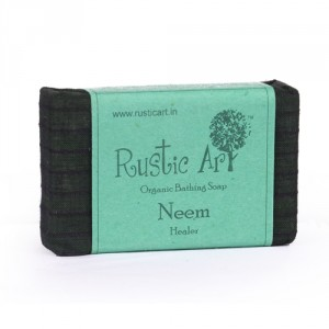 Buy Rustic Art Organic Neem Soap - Nykaa