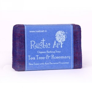 Buy Herbal Rustic Art Organic Tea Tree and Rosemary Soap - Nykaa