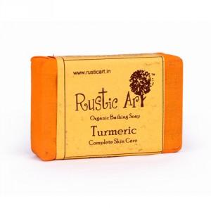 Buy Rustic Art Organic Turmeric Soap - Nykaa