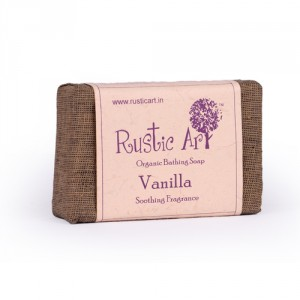 Buy Herbal Rustic Art Organic Vanilla Soap - Nykaa
