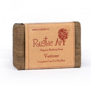 Buy Herbal Rustic Art Organic Vetiver Soap - Nykaa