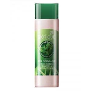 Buy Biotique Bio Henna Leaf Fresh Texture Shampoo & Conditioner - Nykaa