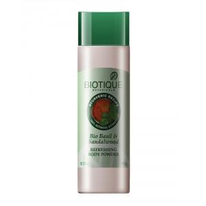 Buy Biotique Bio Basil & Sandalwood Refreshing Body Powder - Nykaa