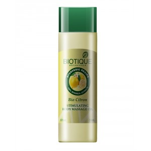 Buy Herbal Biotique Bio Citron Stimulating Body Massage Oil - Nykaa