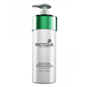 Buy Biotique Bio Green Apple Fresh Daily Purifying Shampoo & Conditioner - Nykaa