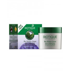 Buy Biotique Bio Winter Green Spot Correcting Anti Acne Cream for Oily & Acne Prone Skin - Nykaa