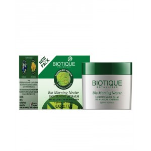 Buy Biotique Bio Morning Nectar Lightning Lip Balm SPF 30 UVA/UVB Sunscreen - Nykaa