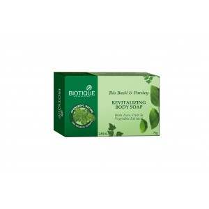 Buy Biotique Bio Basil & Parsley Revitalizing Body Soap - Nykaa