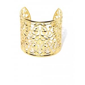 Buy Toniq Gold Floral Cuff - Nykaa