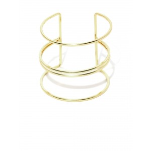 Buy Toniq Gold Coil Patterned Cuff - Nykaa