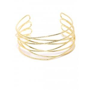 Buy Toniq Gold Crosswired Cuff - Nykaa
