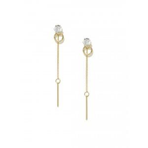 Buy Toniq Gold Toned Kim Drop Earrings - Nykaa