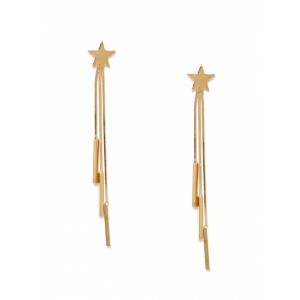 Buy Toniq Gold Toned Starry Earrings - Nykaa