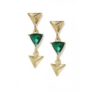 Buy Toniq Gold Toned Arrow Down Earrings - Nykaa