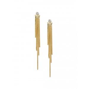 Buy Toniq Gold Toned Swingy Diva Earrings - Nykaa