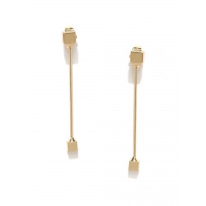 Buy Toniq Golden Front Back Earring - Nykaa
