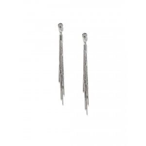Buy Toniq Silver Swingy Bella Earrings - Nykaa