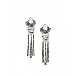 Buy Toniq Silver Shine-Me Earrings - Nykaa