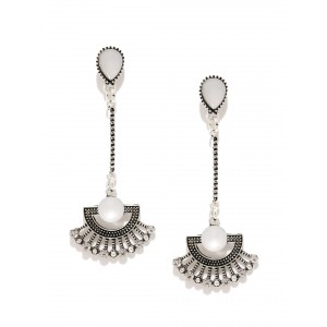 Buy Toniq Victorian Silver Drop Earrings - Nykaa