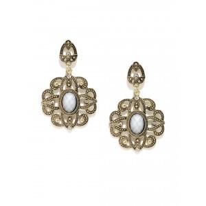 Buy Toniq Gold Sheild Earrings - Nykaa