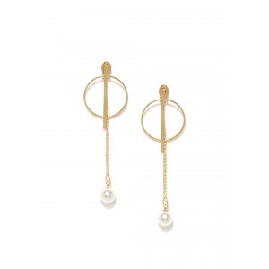 Buy Toniq Round Gold Sterling Drop Earring - Nykaa