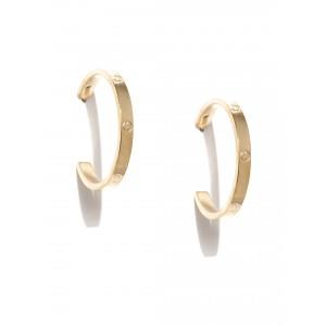 Buy Toniq Dolche Plain Gold Hoops - Nykaa