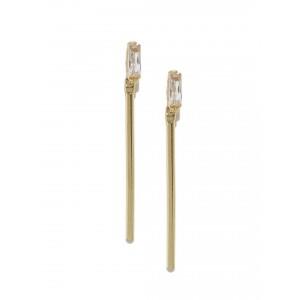Buy Toniq Gold Crystal Danglers - Nykaa