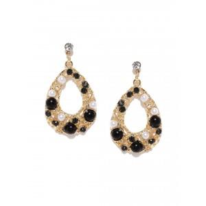 Buy Toniq Black Teardrop Earring - Nykaa