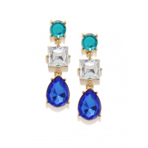 Buy Toniq Blue Stone Celine Earrings - Nykaa