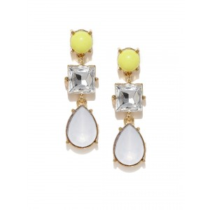 Buy Toniq White Stone Celine Earrings - Nykaa