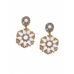 Buy Toniq White Heidi Earrings - Nykaa